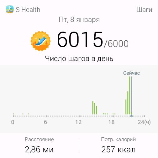 6015 шагов из 6000