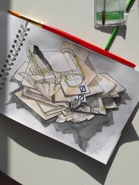 Гора писем, рисунок Ностиэ Эленсуле